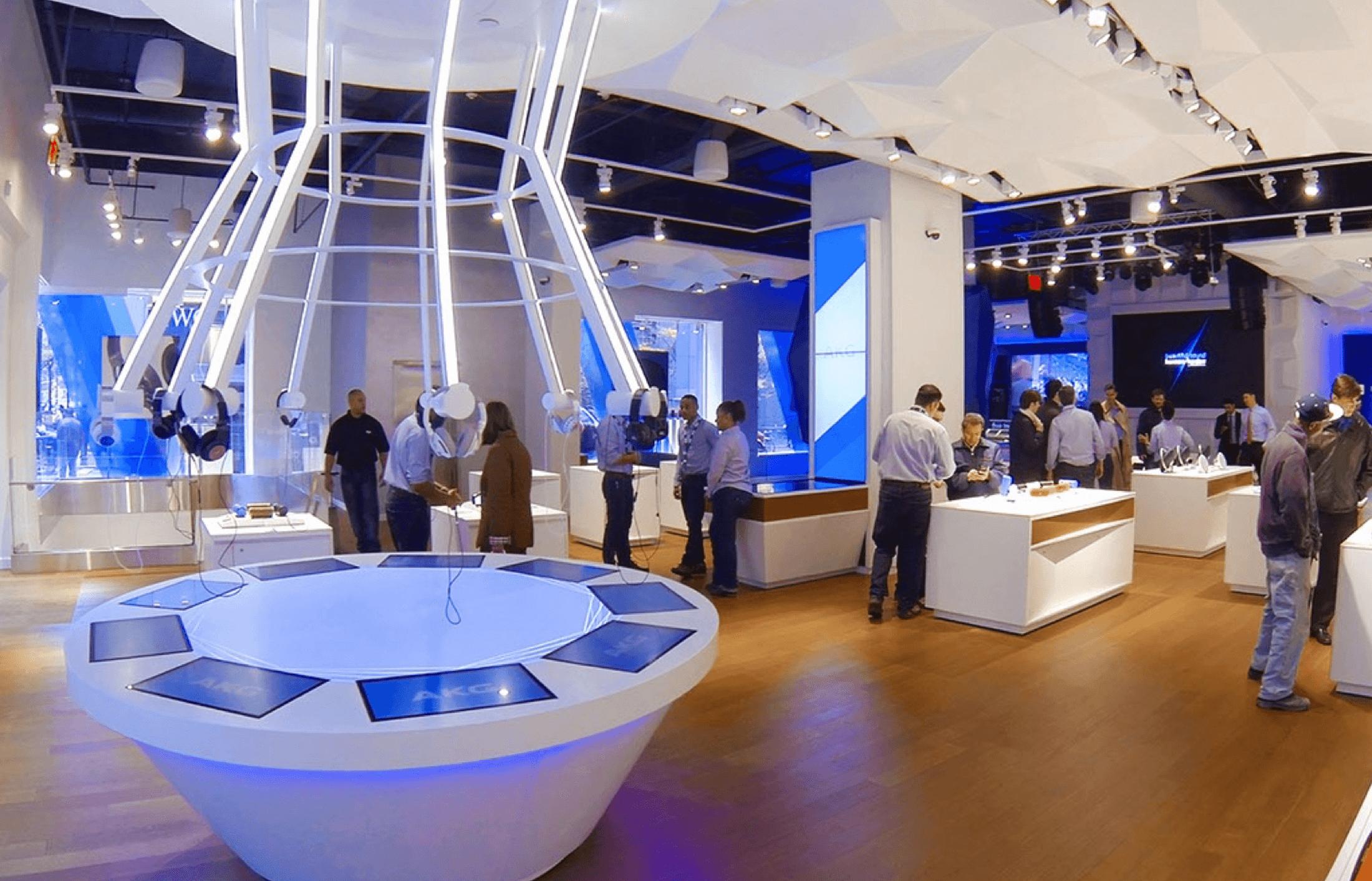 Harman Flagship Store Interactives