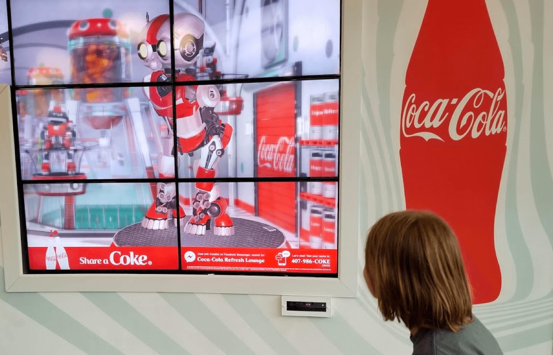 Coca-Cola Roboasis Interactive Wall